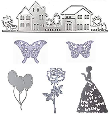 Scrapbooking card ladies hat and purse clipart svg freeuse library Cutting Dies Cut Stencils for DIY Scrapbooking Butterfy House Beauty  Balloon Rose Flower Photo Album Decorative Embossing DIY Paper Cards (Dies  16) svg freeuse library