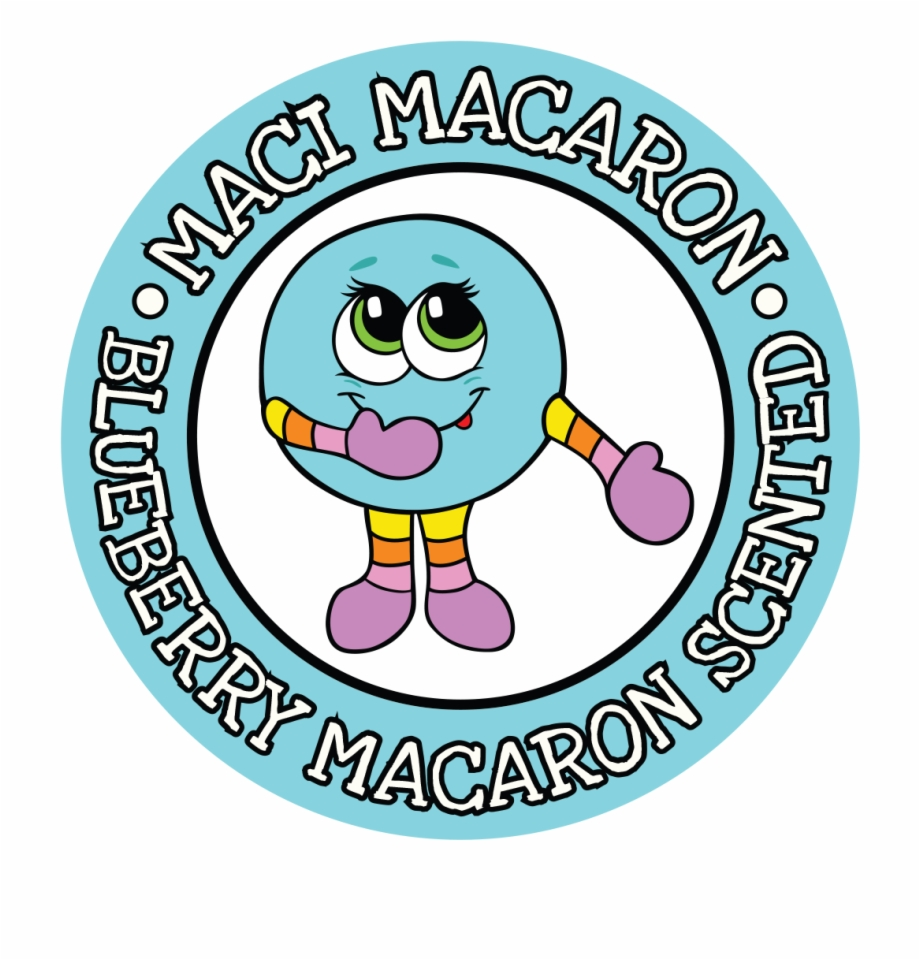 Scratch and sniff clipart vector library stock Blueberry Macaron Whiffer Stickers Scratch \'n Sniff Free PNG ... vector library stock