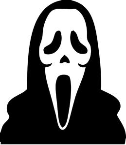 Scream mask clipart clip art black and white library 278 scream mask clipart | Public domain vectors clip art black and white library