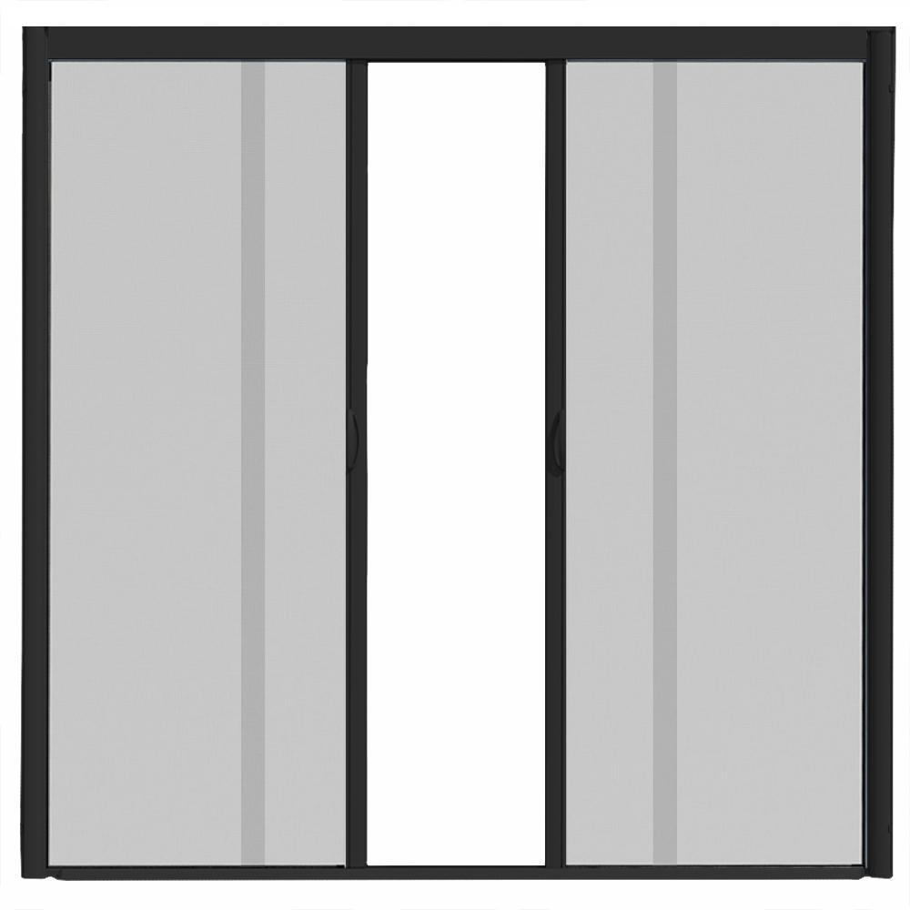 Screen door clipart clip transparent VisiScreen 72 in. x 84 in. VS1 Black Retractable Screen Door, Double  Cassette clip transparent