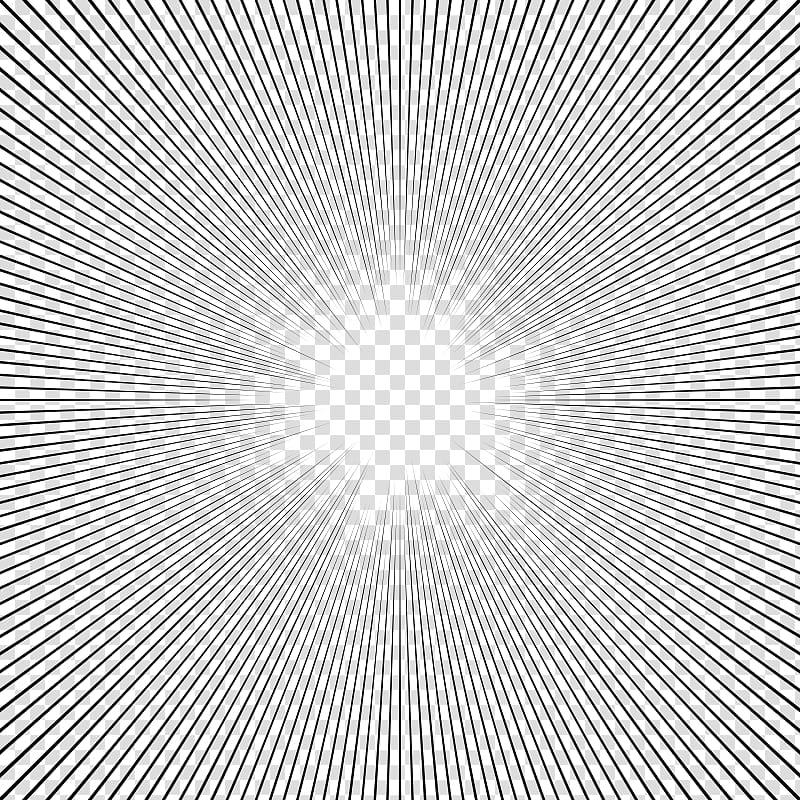 Screentone cliparts image library Screentones action lines, black line illustration ... image library