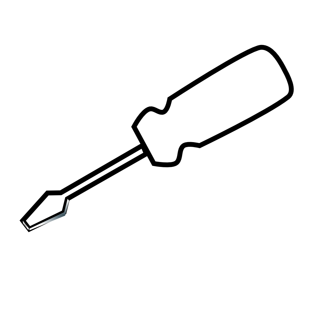 Screw with driver black and white clipart jpg transparent download Screw Clipart | Free download best Screw Clipart on ... jpg transparent download