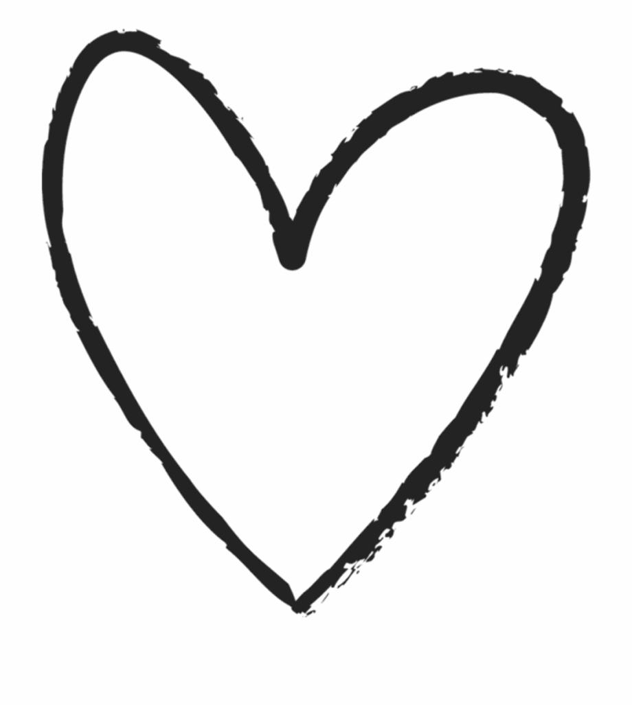 Scribble line clipart black and white transparent clip library Scribble Heart Clipart Library Download - Transparent Drawn ... clip library