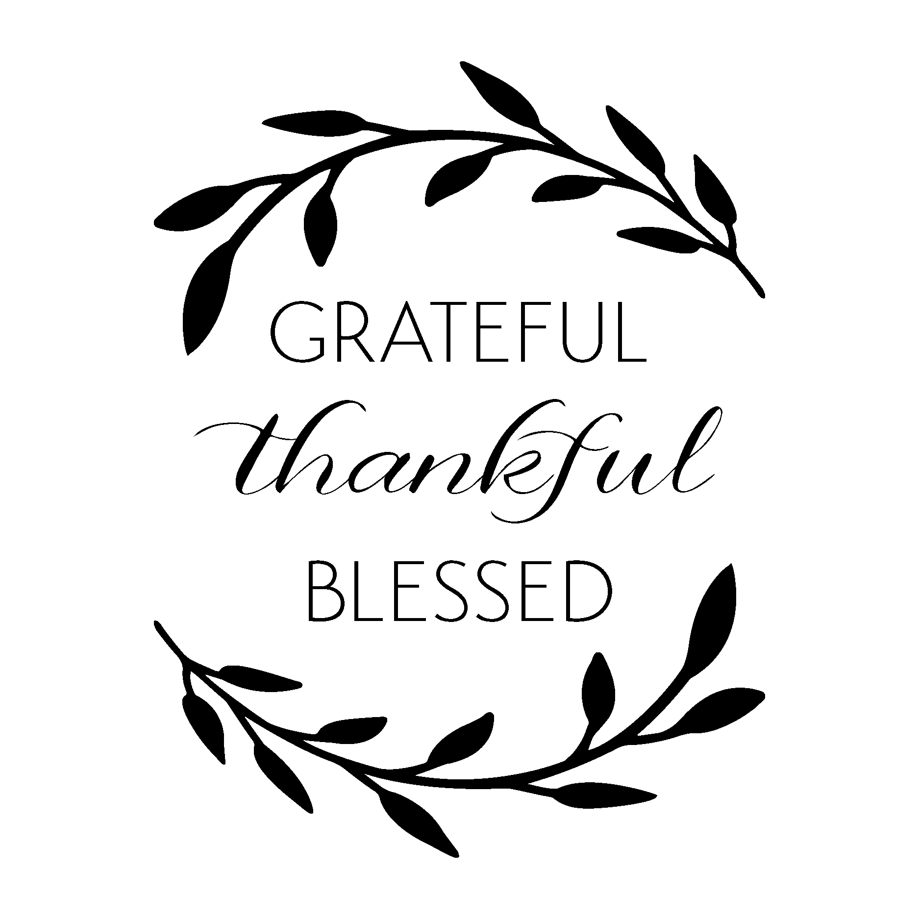 Thanksgiving quote clipart png royalty free stock Grateful Thankful Blessed Wall Quotes™ Decal | WallQuotes.com | Home ... png royalty free stock