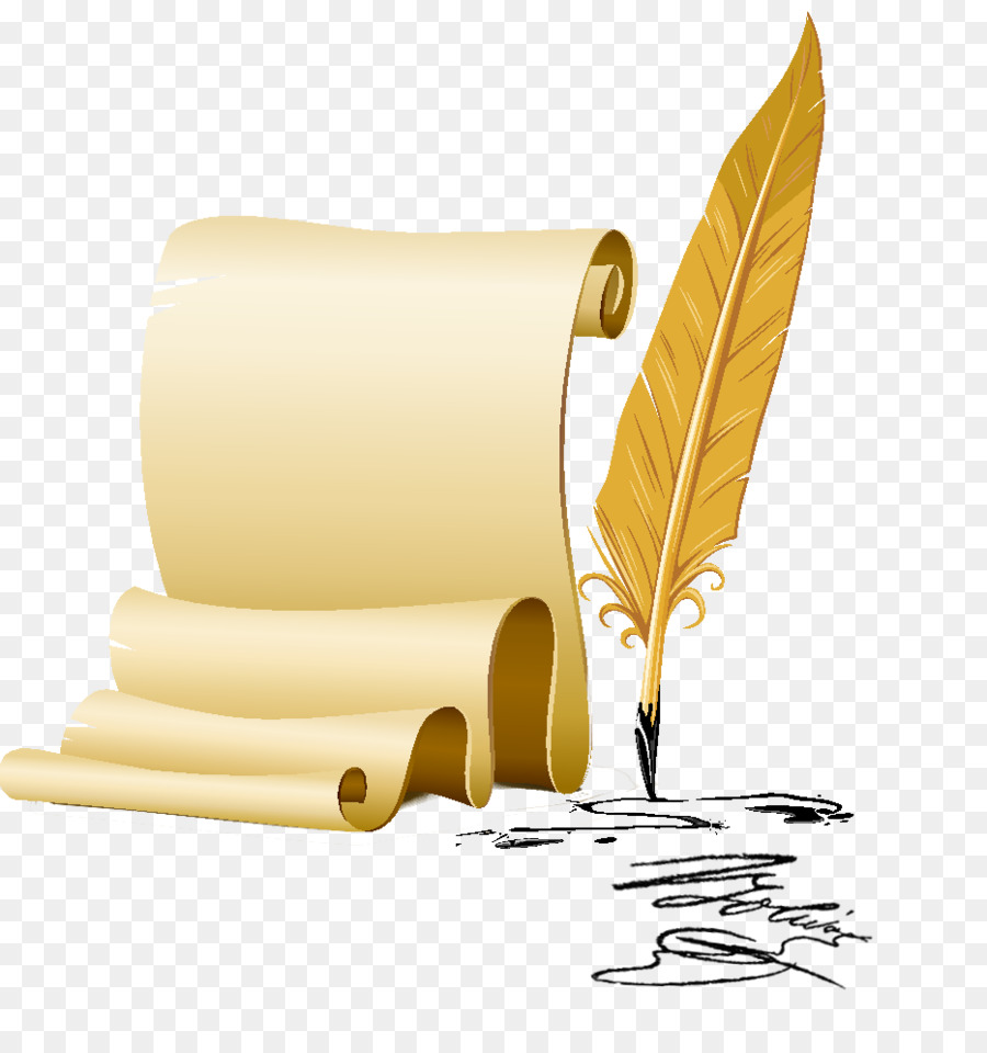 Scroll and quill clipart download Writing Cartoon png download - 933*994 - Free Transparent ... download