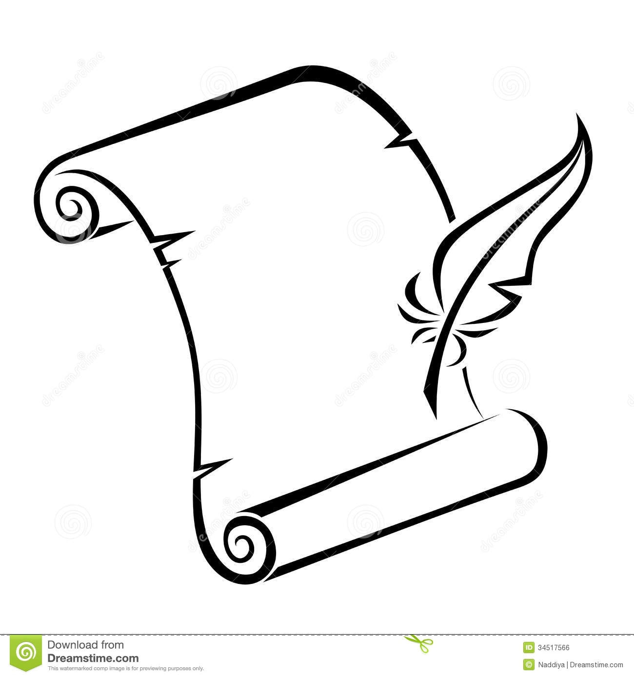 Scroll and quill clipart clipart transparent Collection of Quill clipart | Free download best Quill ... clipart transparent