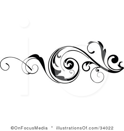 Scroll artwork clipart clip art black and white library Scroll Design Clip Art & Scroll Design Clip Art Clip Art Images ... clip art black and white library