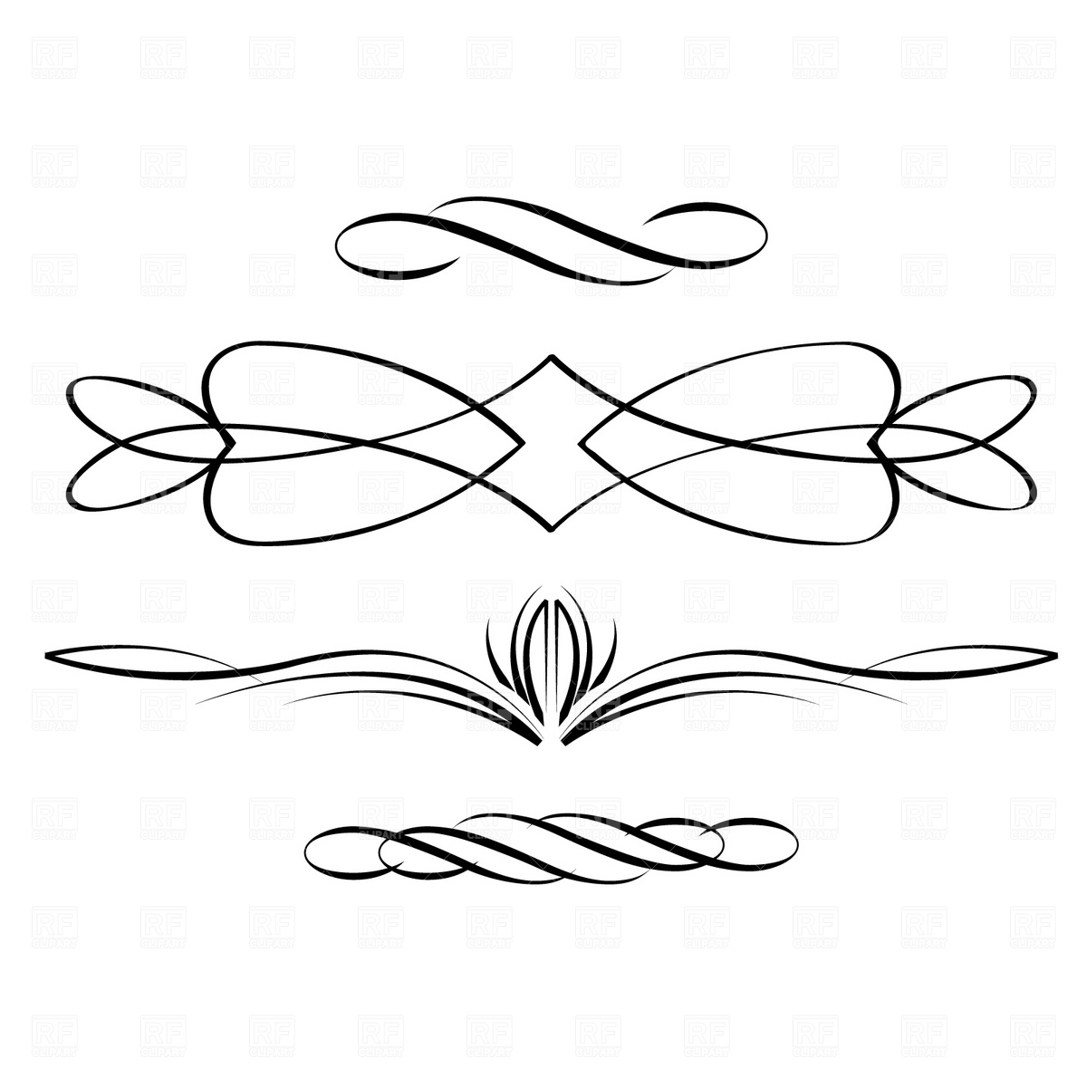 Scroll artwork clipart picture library Decorative Scroll Free Clipart - Clipart Kid picture library