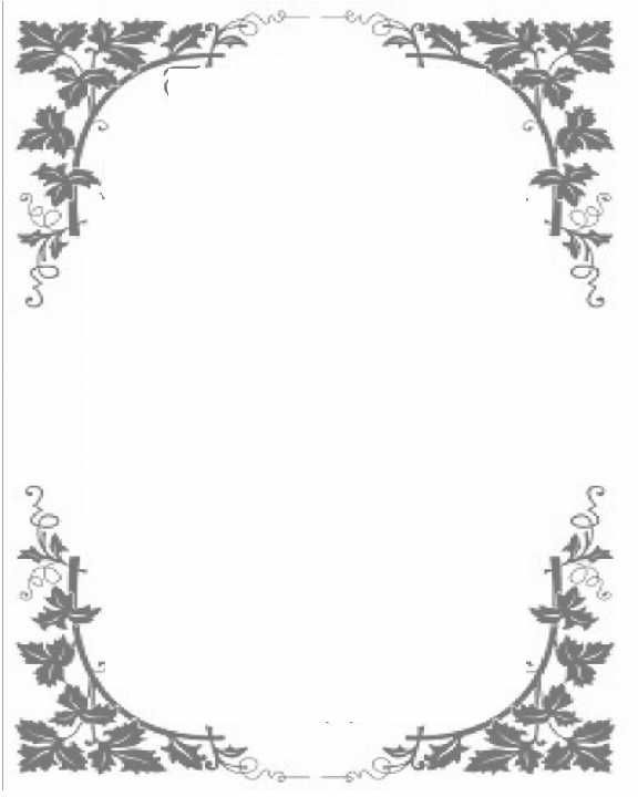 Scroll frames clipart border with watercolor ivy freeuse download Ivy top & bottom leaf borders blank frame | Planner | Zeichnen freeuse download