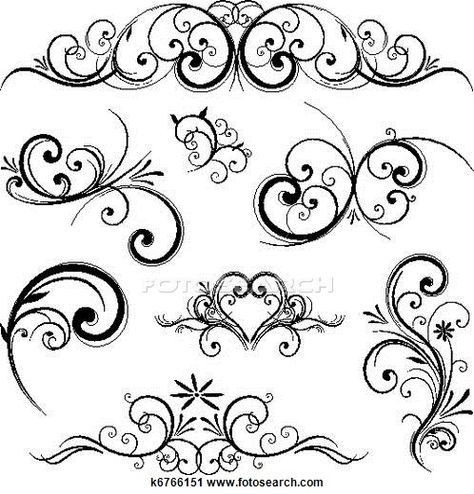 Scroll motif clipart svg transparent library Vector scroll ornament Clipart | drawing | Scroll design ... svg transparent library