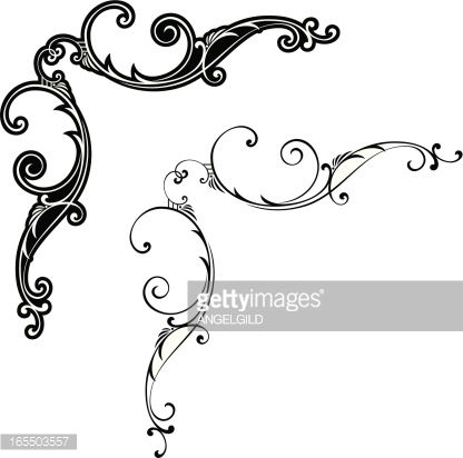Scroll motif clipart png free library Gothic scroll patterns - Google Search | Art Inspiration ... png free library