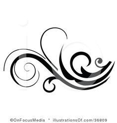 Scroll patterns clipart jpg library Tattoo Decorative Pattern clip art - vector clip art online ... jpg library