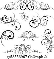 Vector scroll clipart svg black and white Scrolls Clip Art - Royalty Free - GoGraph svg black and white