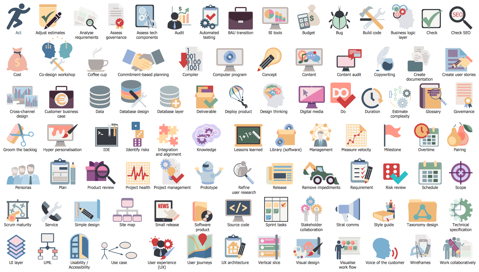 Scrum logo clipart picture royalty free library Design Elements — Scrum Clipart. Find more in #Scrum ... picture royalty free library