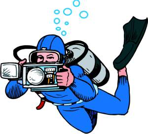 Water camera clipart jpg black and white stock Scuba diving clipart 9 » Clipart Station jpg black and white stock
