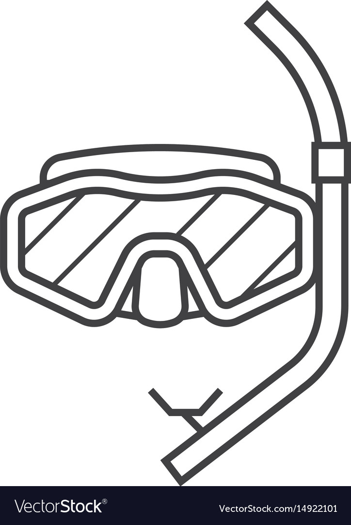 Scuba diving mask clipart black and white banner free stock Scuba diving mask icon banner free stock