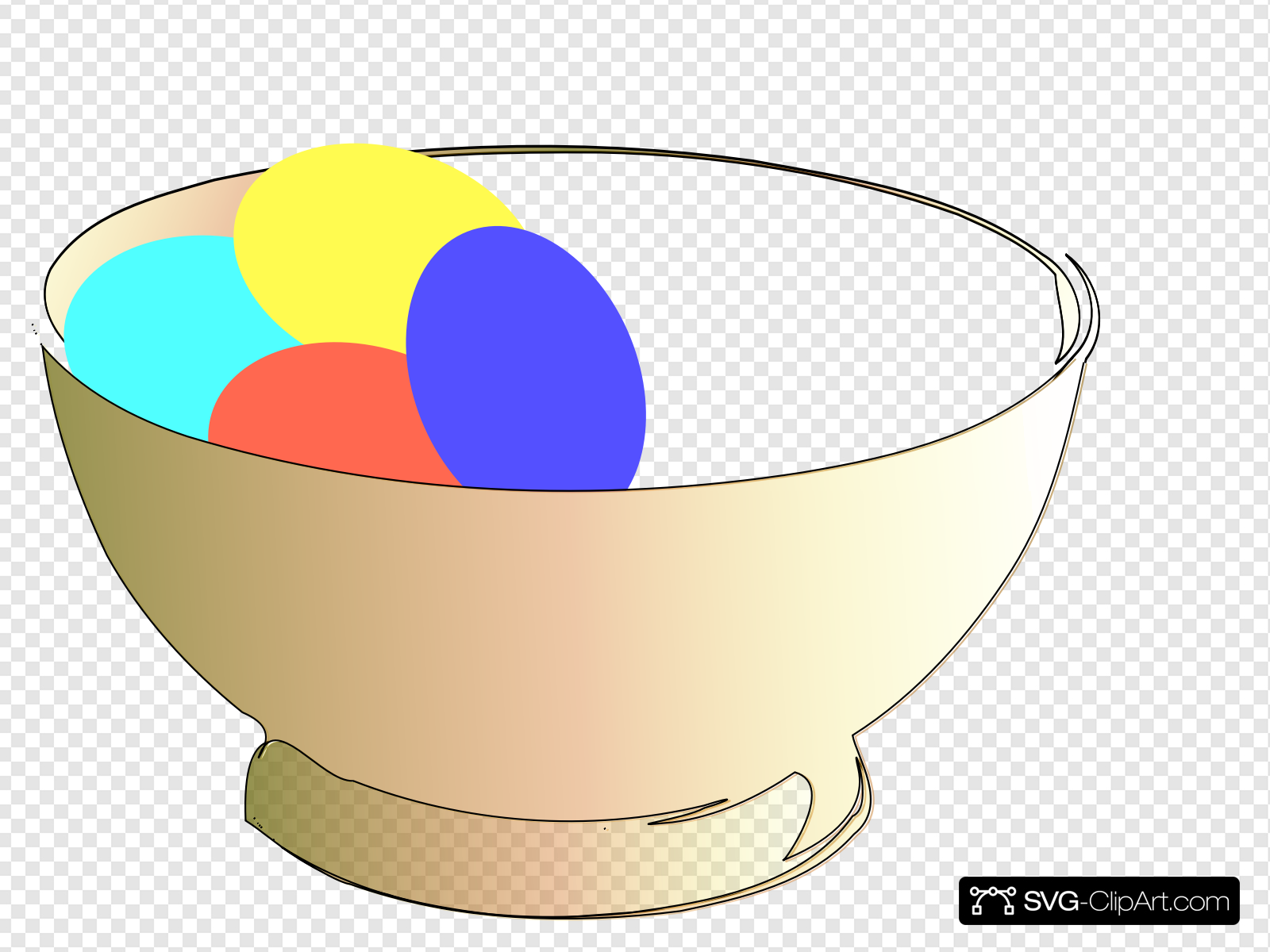 Sdl clipart jpg transparent library Bowl Of Easter Eggs Clip art, Icon and SVG - SVG Clipart jpg transparent library