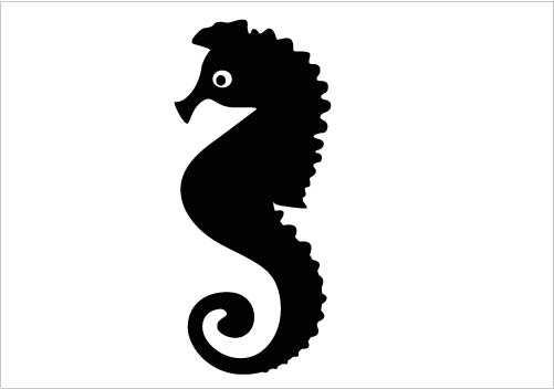 Sea horse clipart black and white silhouette simple vector black and white stock Seahorse Black And White | Free download best Seahorse Black ... vector black and white stock