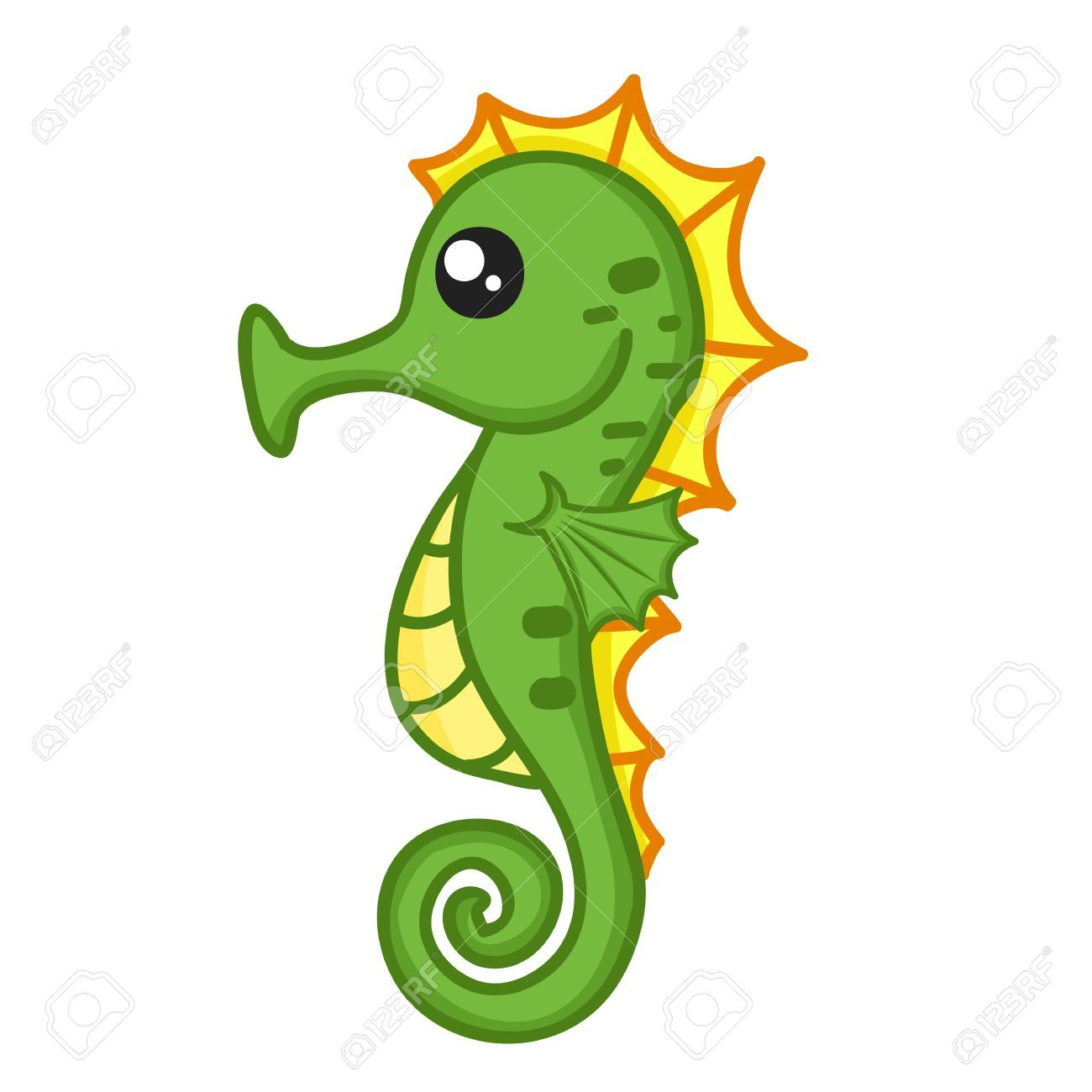 Sea horse clipart cute banner royalty free download Cute Seahorse Clipart #1 | Cool rock ideas! | Seahorse ... banner royalty free download