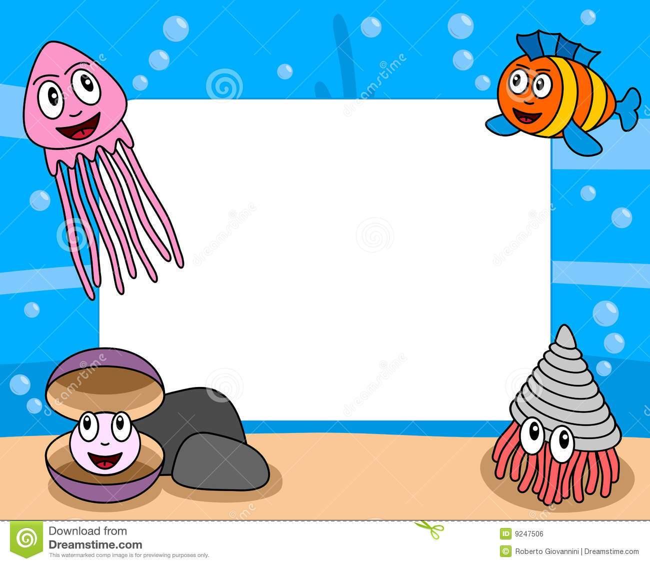 Sea life borders clipart svg black and white stock Sea life clipart borders 2 » Clipart Portal svg black and white stock
