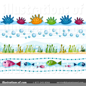 Sea life borders clipart png black and white library Sea Life Clipart Borders | Free Images at Clker.com - vector ... png black and white library