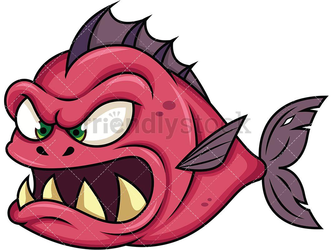 Sea monsters clipart png download Evil Piranha Fish Monster   Clip Arts in 2019   Cartoon sea ... png download