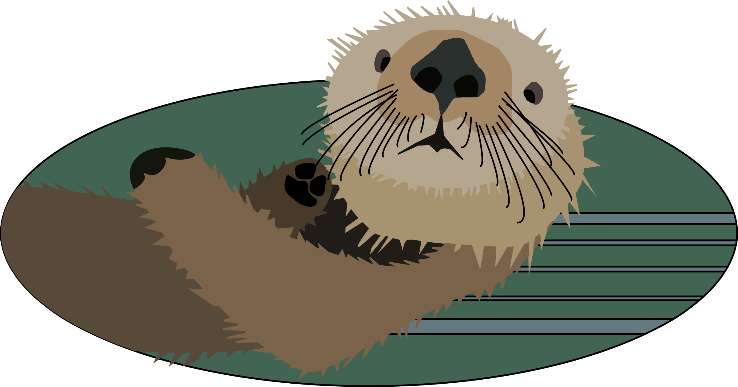 Sea otters clipart png royalty free Clipart - Sea otter | Northwest Coast Native Art | Sea otter ... png royalty free