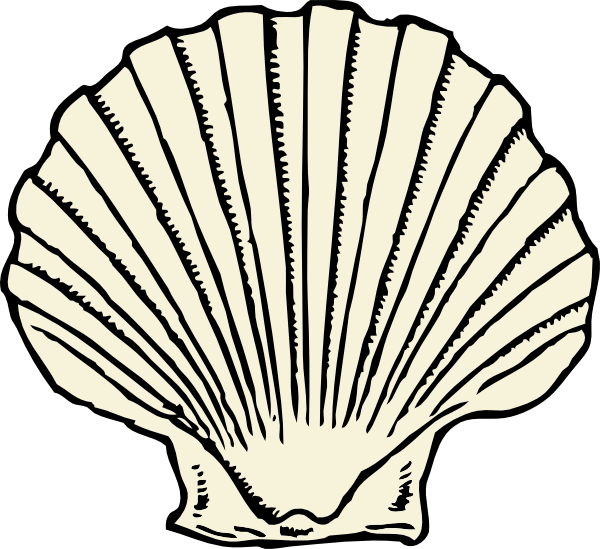 Sea shells star fishon beach clipart clip freeuse library scallop shell - outline, no color | Tattoo Ideas | Pinterest ... clip freeuse library