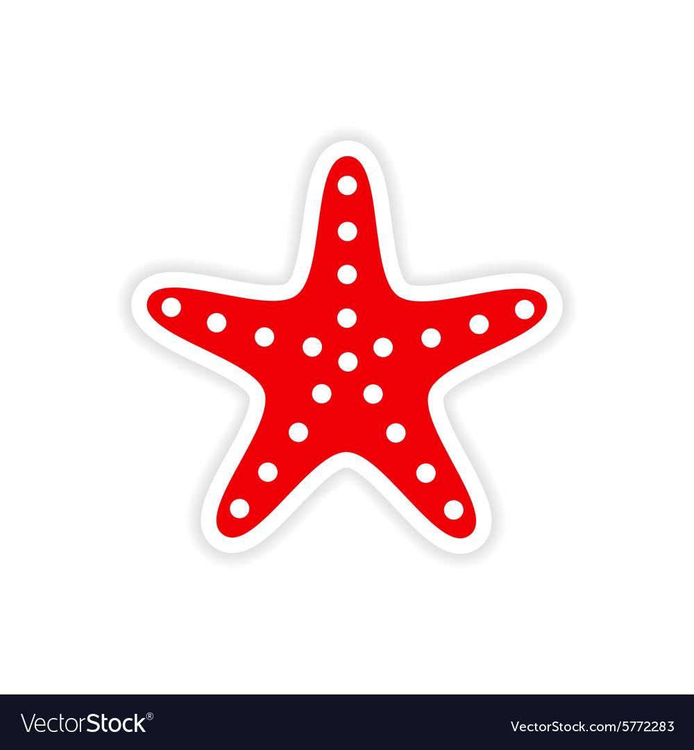 Sea star vector clipart clip Icon sticker realistic design on paper sea star clip