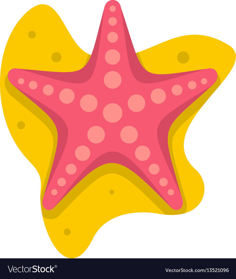 Sea star vector clipart clip transparent Sea star icon flat style clip transparent