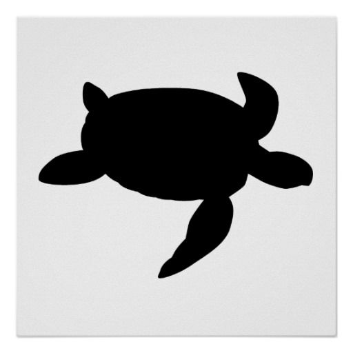 Turtle clipart silhouette image library stock Sea Turtle Silhouette Posters | Clipart Panda - Free Clipart ... image library stock