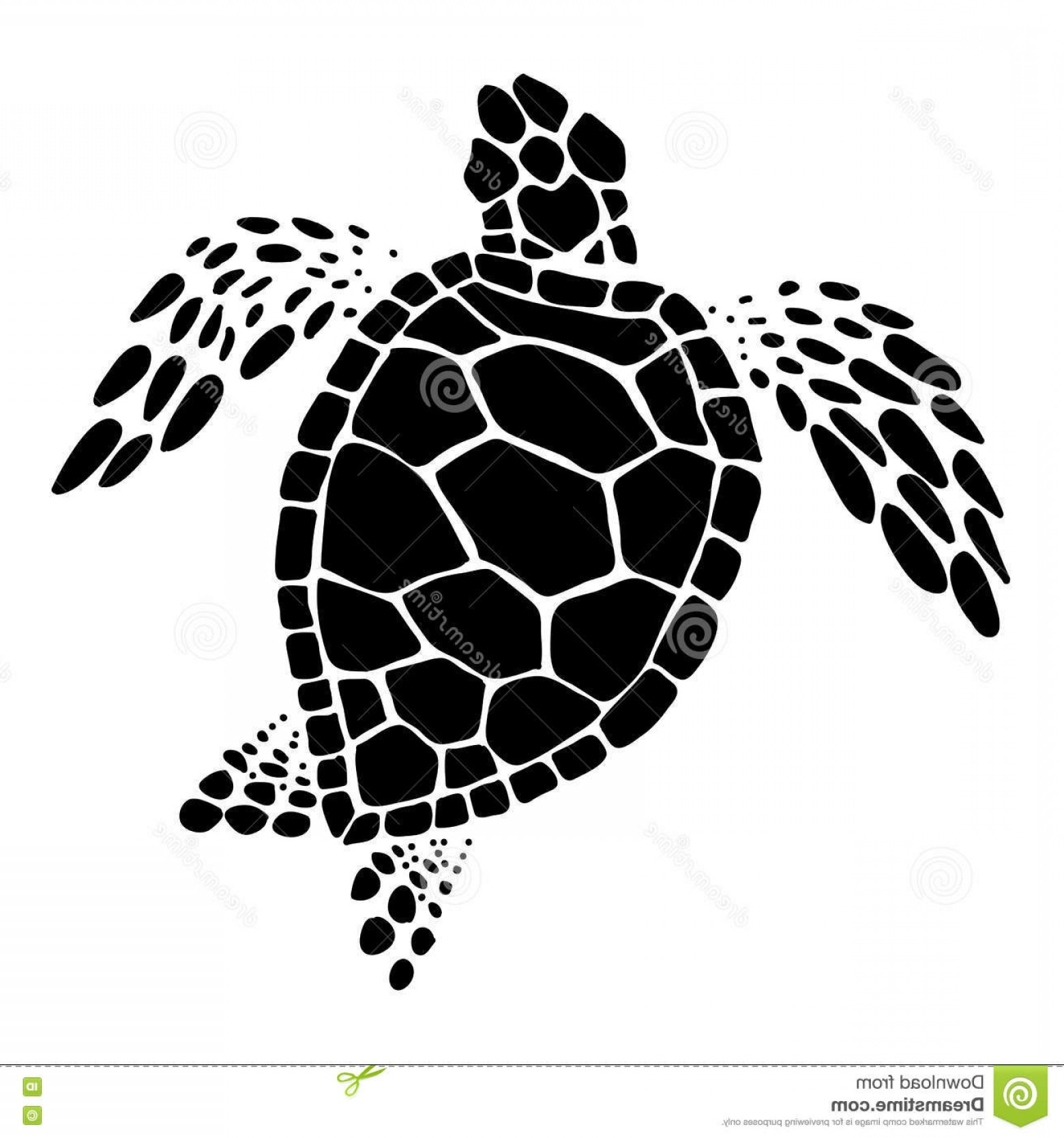 Sea turtle with a black and white clipart png transparent stock Stock Illustration Sea Turtle Vector Clip Art Black White ... png transparent stock