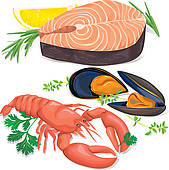 Seafood free clipart jpg free stock Collection of 14 free Seafood clipart cute bamboo clipart ... jpg free stock