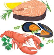 Seafood pictures clipart clipart black and white stock Seafood Clipart Free   Clipart Panda - Free Clipart Images clipart black and white stock
