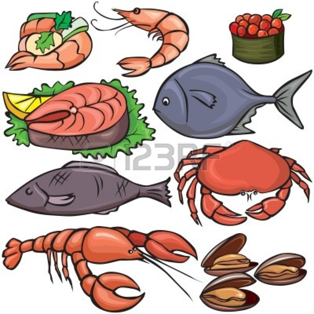 Seafood pictures clipart image royalty free Seafood Dinner Clip Art..   Clipart Panda - Free Clipart Images image royalty free