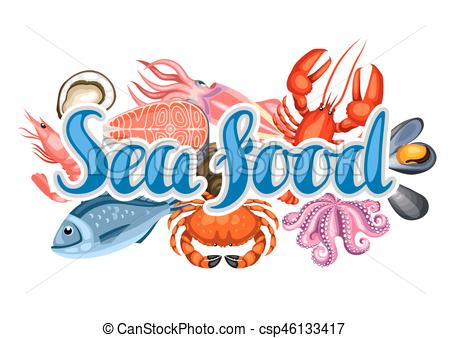 Seafood pictures clipart image stock Collection of 14 free Seafood clipart lobster bill clipart ... image stock