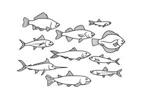 Seafood vector clipart jpg black and white library Fish Free Vector Art - (22,170 Free Downloads) jpg black and white library