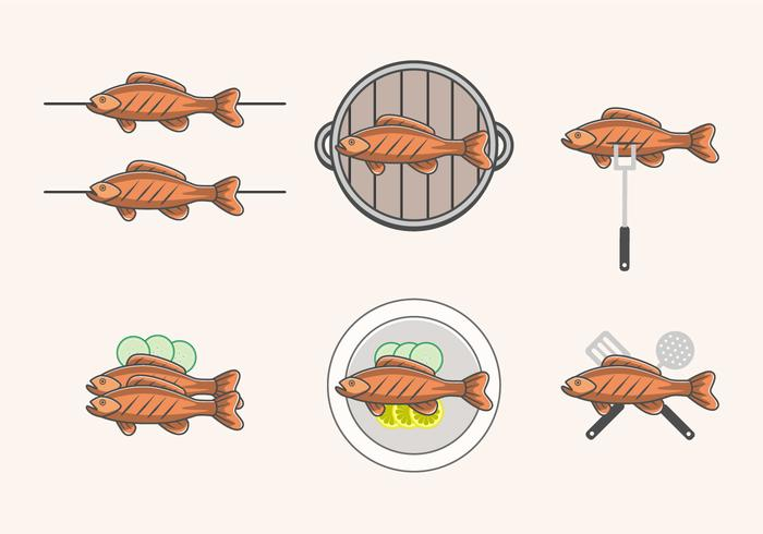 Seafood vector clipart banner freeuse stock Delicious Fried Fish Vectors - Download Free Vectors ... banner freeuse stock