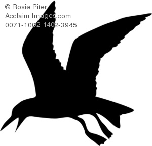 Seagull silhouette clipart jpg free download Clipart Illustration of a Silhouette of a Seagull jpg free download