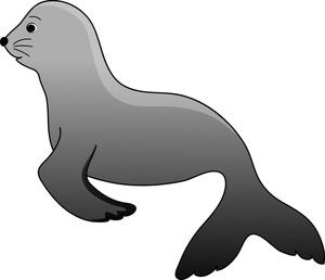Sealion clipart clip art black and white download Free Seal Clip Art Image: Cute | Clipart Panda - Free ... clip art black and white download