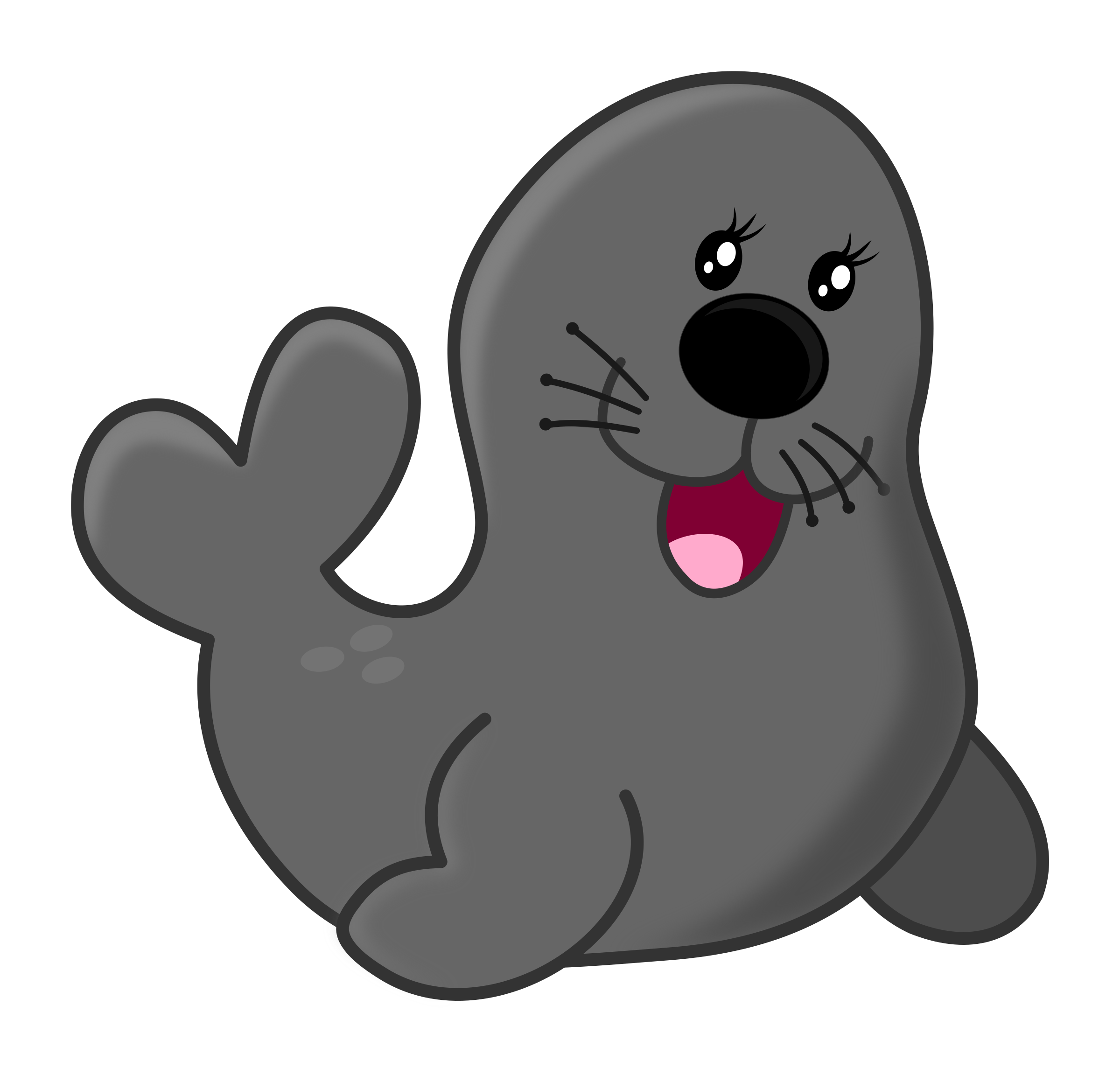Seal images clipart picture free stock Cartoon Grey Seal Vector Clipart image - Free stock photo ... picture free stock