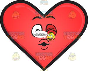 Sealed with a kiss clipart graphic freeuse stock Sealed With A Kiss Heart Emoji graphic freeuse stock