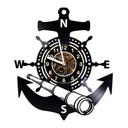 Seaman logo anchor clipart vector Amazon.com: AlinasSHOP Seaman, Anchor, Sea- Wall Clock Made ... vector