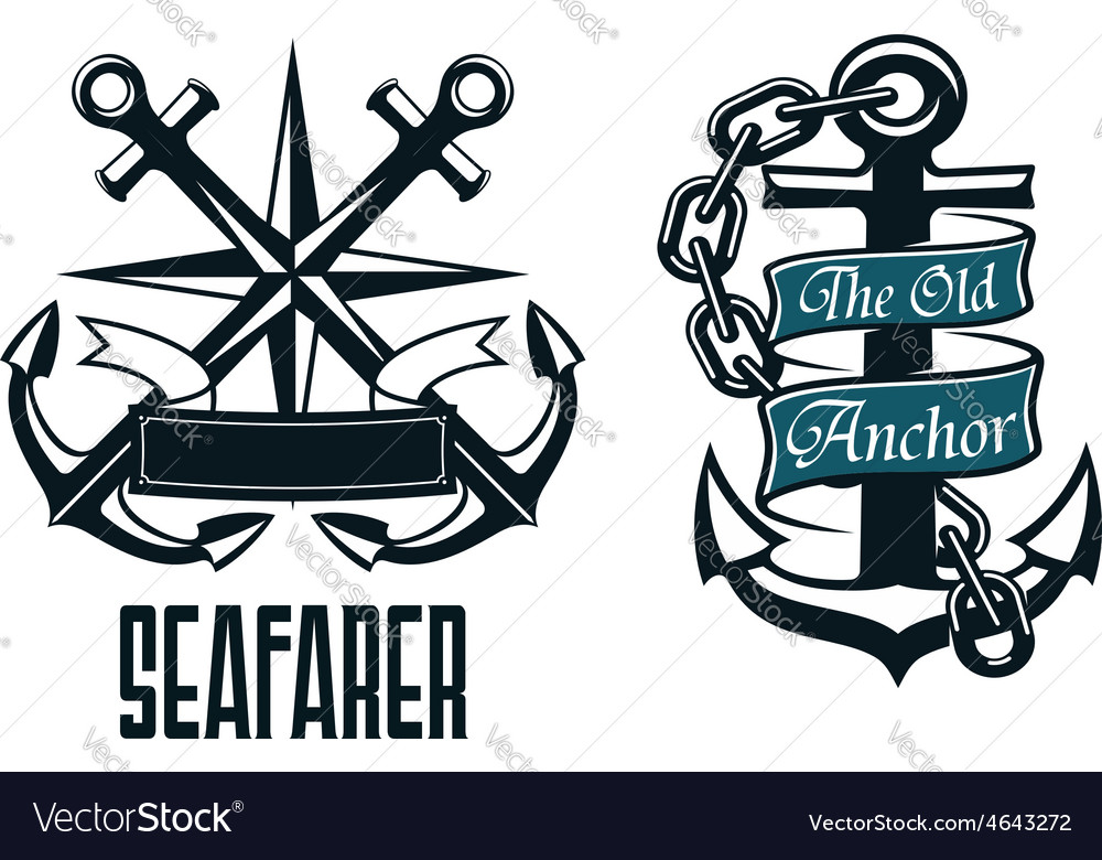 Seaman logo anchor clipart png library download Seafarer marine heraldic emblem and symbol png library download