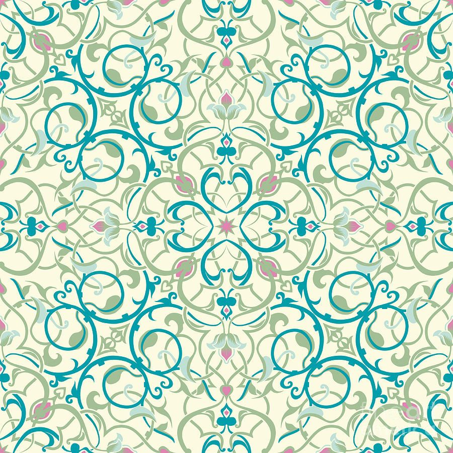 Seamless tile clipart vector royalty free stock Middle Eastern Inspired Seamless Tile Design | Art Deco ... vector royalty free stock