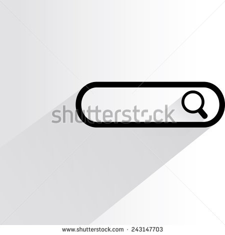 Search bar clipart clip art royalty free library Search Bar On Blue Background Stock Vector 214208218 - Shutterstock clip art royalty free library