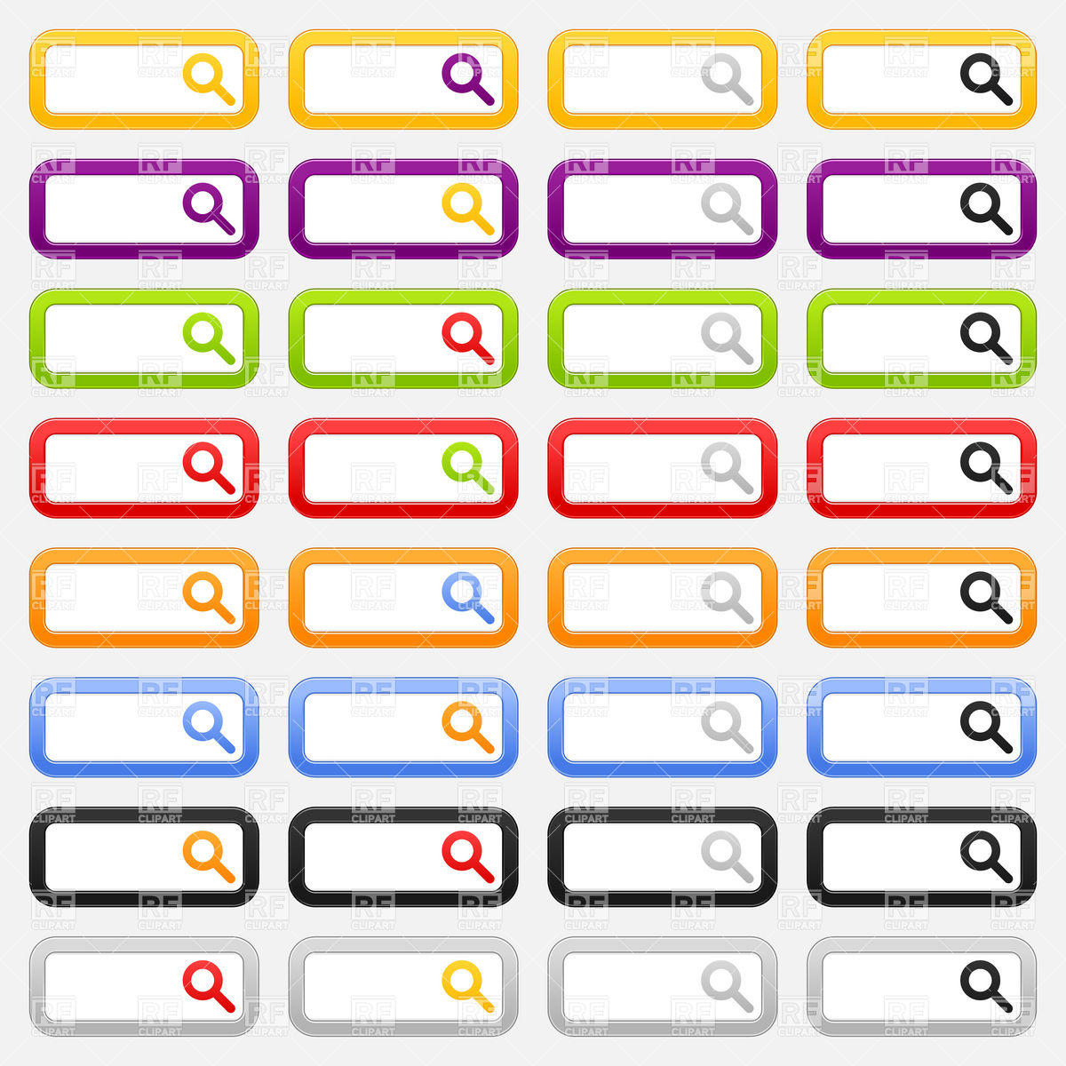 Search box clipart svg library Search box template with simple magnifier icon Vector Image #13522 ... svg library
