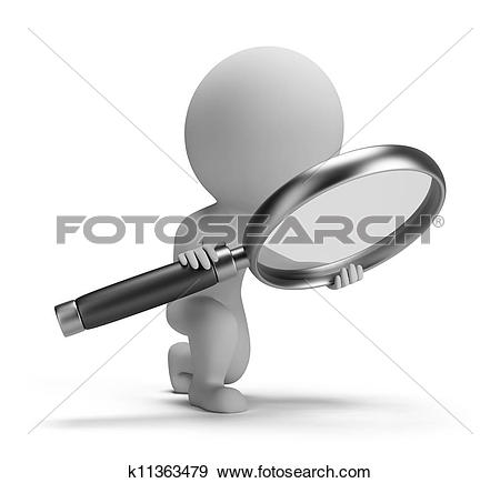 Search clipart royalty free Clip Art of Man with magnifying glass k5507892 - Search Clipart ... royalty free