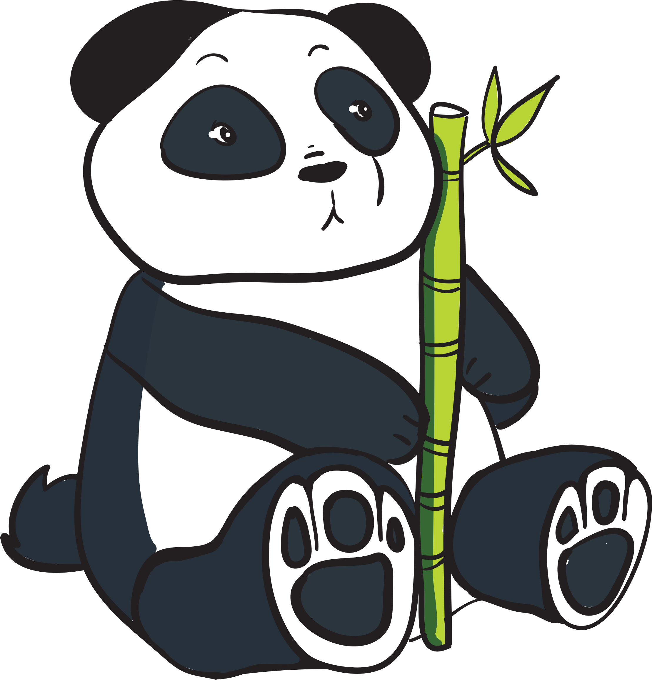Search clipart panda png black and white Search clipart panda - ClipartFest png black and white