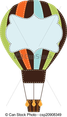 Search clipart transparent background clip black and white EPS Vector of Vintage or retro hot air balloon on transparent ... clip black and white